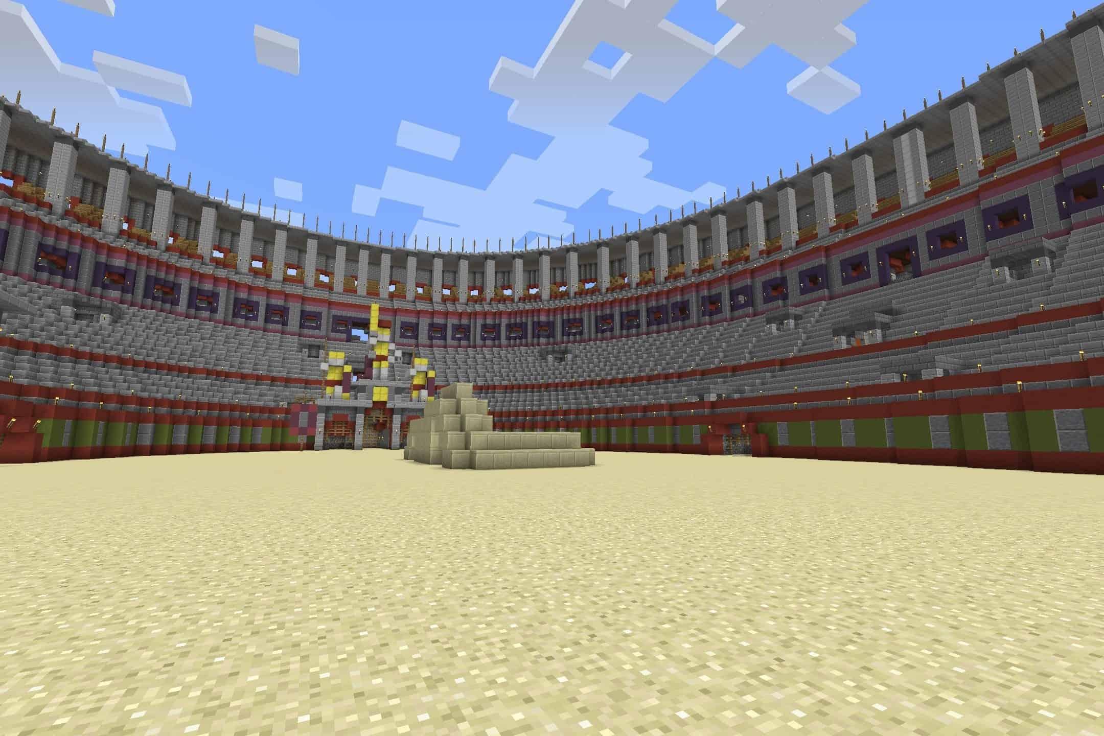 la grande arène de gladiateur de Corpus
