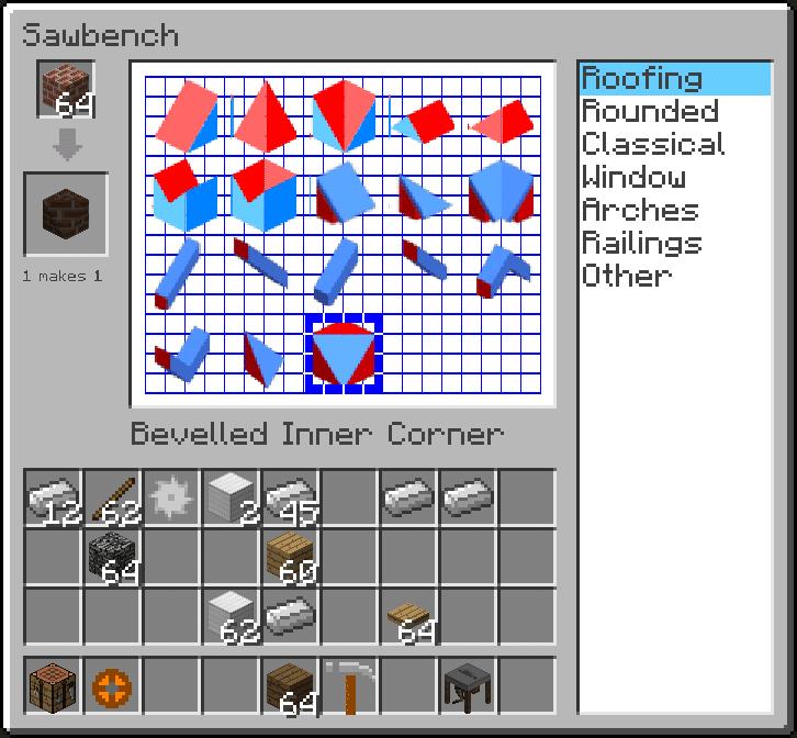 Interface de ArchitectureCraft