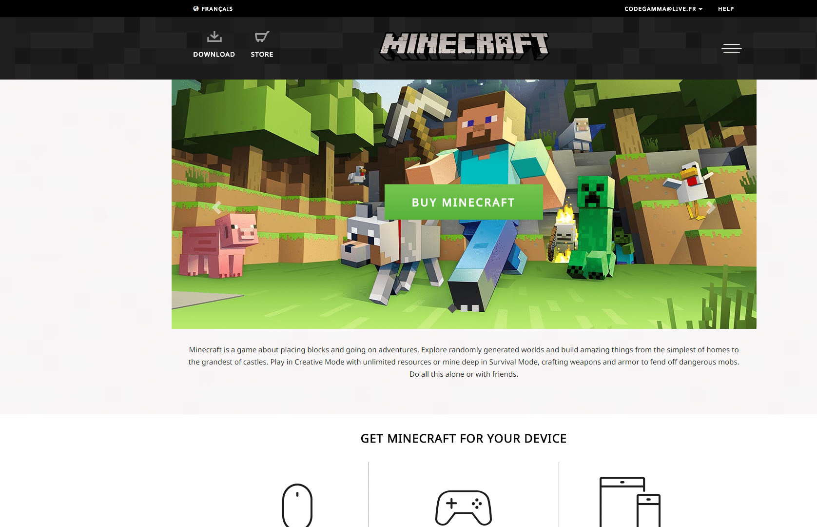 Minecraft.net 2.0