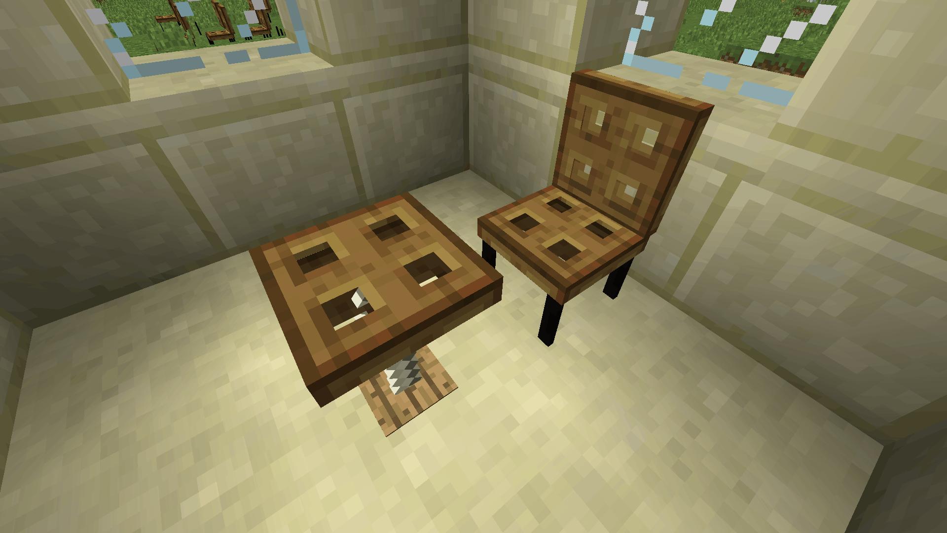 chaise et table de Furniture