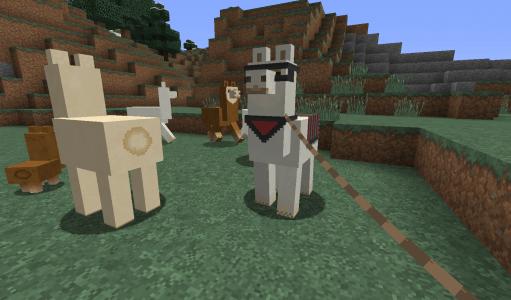 Des lamas dans Minecraft