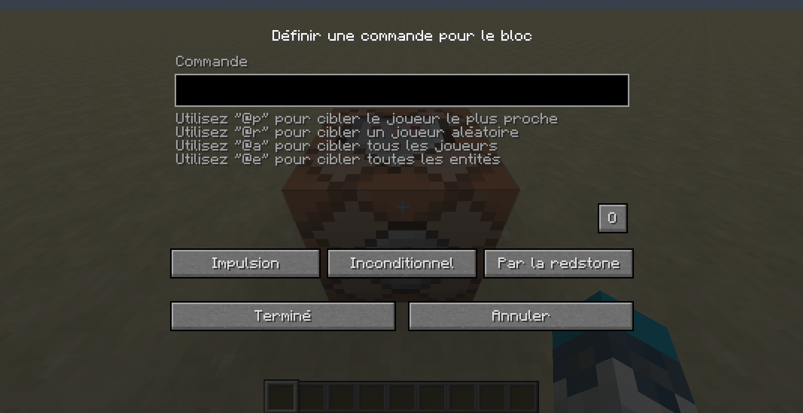 Tuto Command Blocks 1.9 - GUI