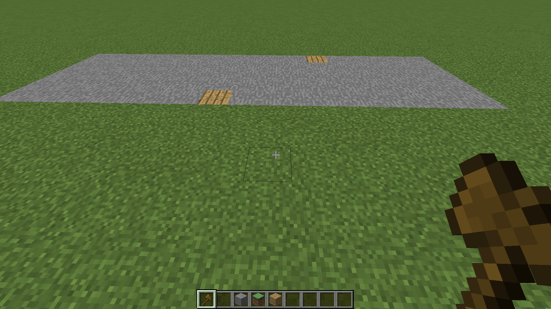 élargissement de mon carré de base avec World Edit