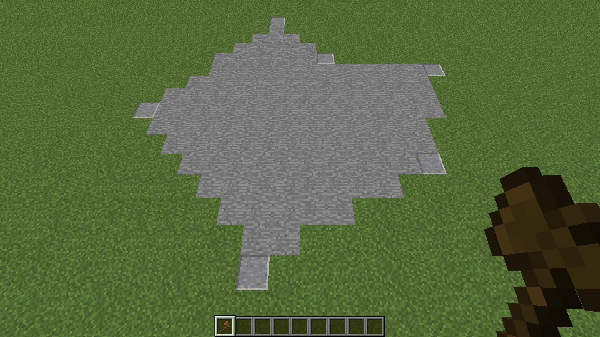 sélection en polygone avec World Edit