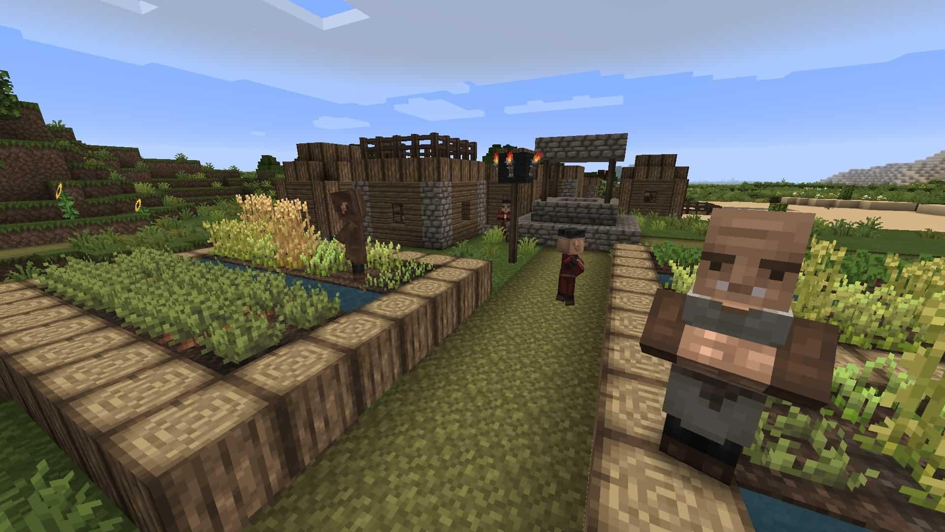village avec le resource pack Excalibur