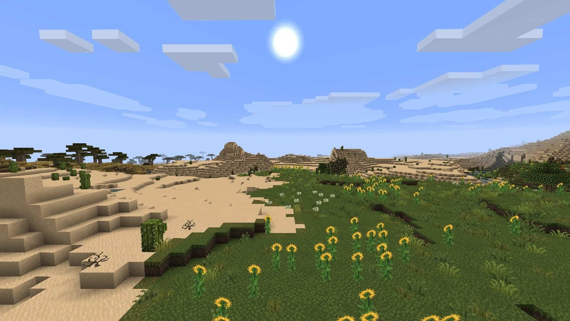 plaine avec le resource pack Excalibur