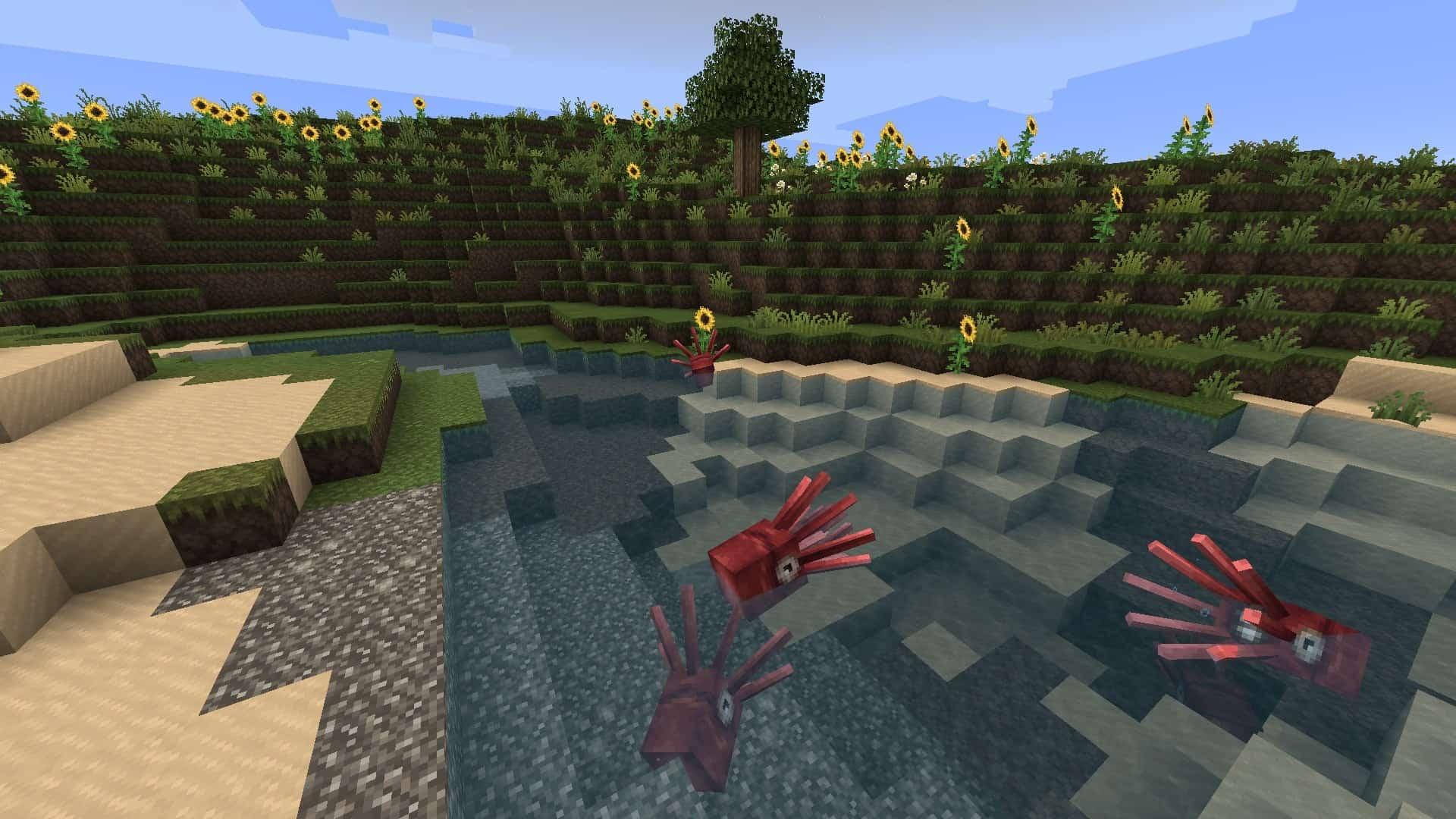 rivière avec le resource pack Excalibur