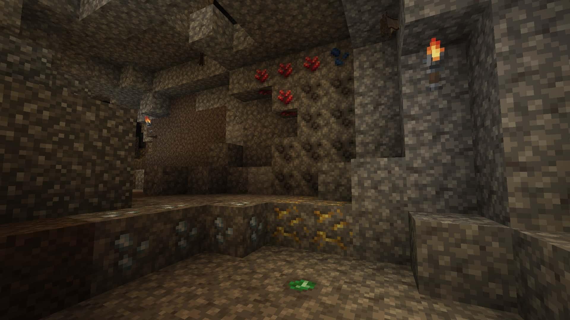 minerais avec le resource pack Excalibur