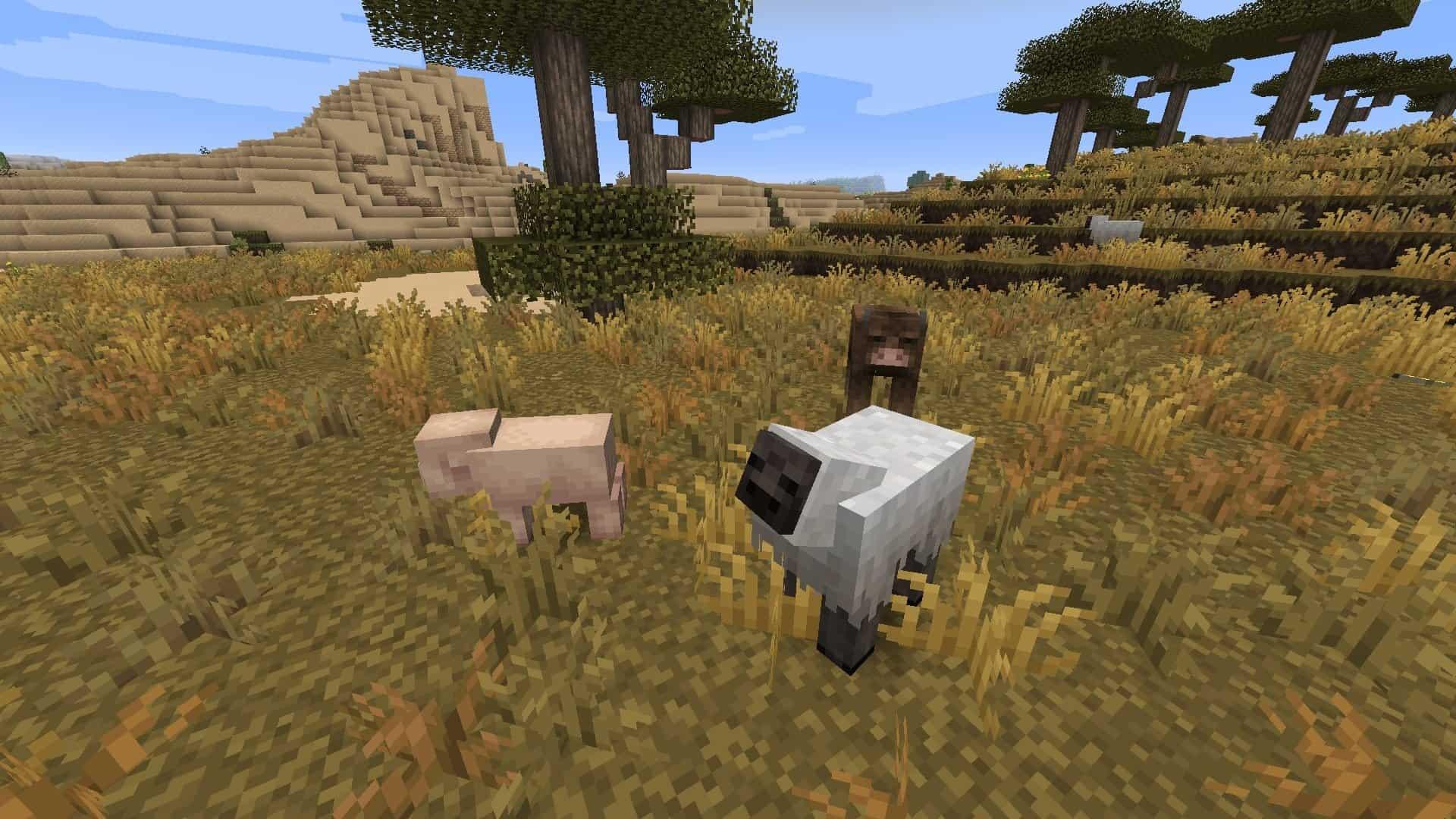 animaux avec le resource pack Excalibur