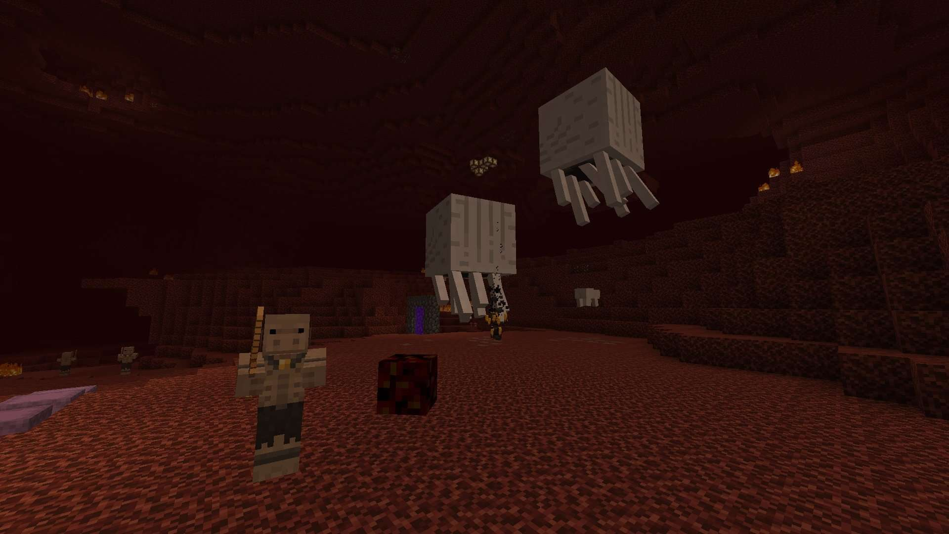 nether avec le resource pack Excalibur