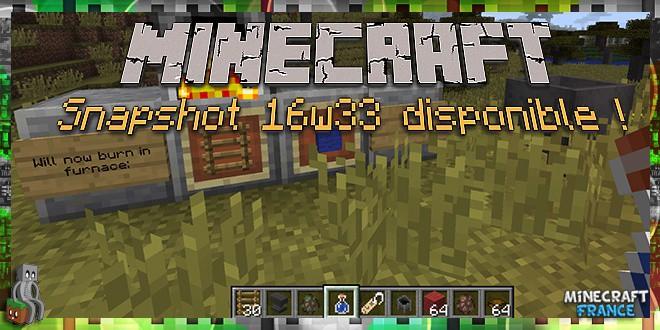 Photo of Minecraft : Snapshot 16w33a