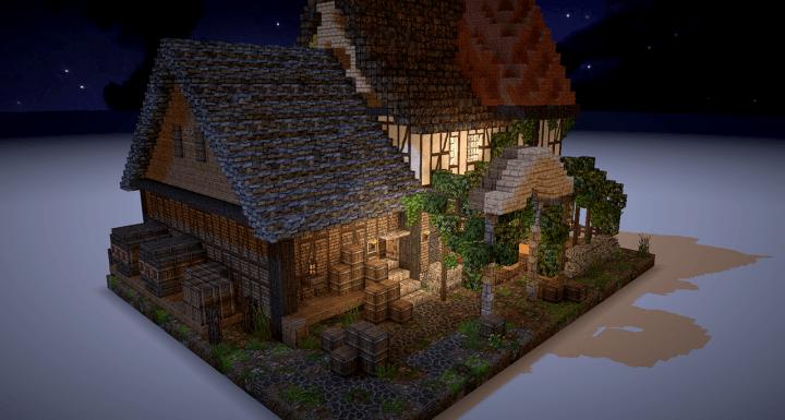 Map Schematics 5 Maisons Médiévales Minecraft France