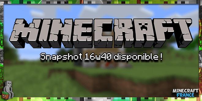 Photo of Minecraft 1.11 : Snapshot 16w40a