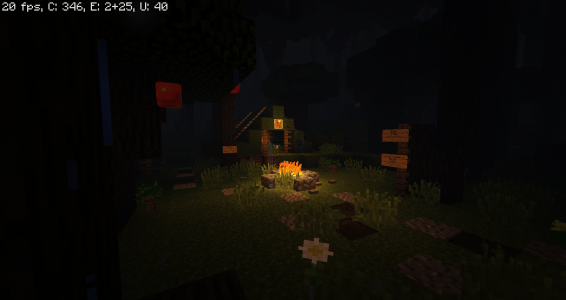Dark Stormy Night Forest