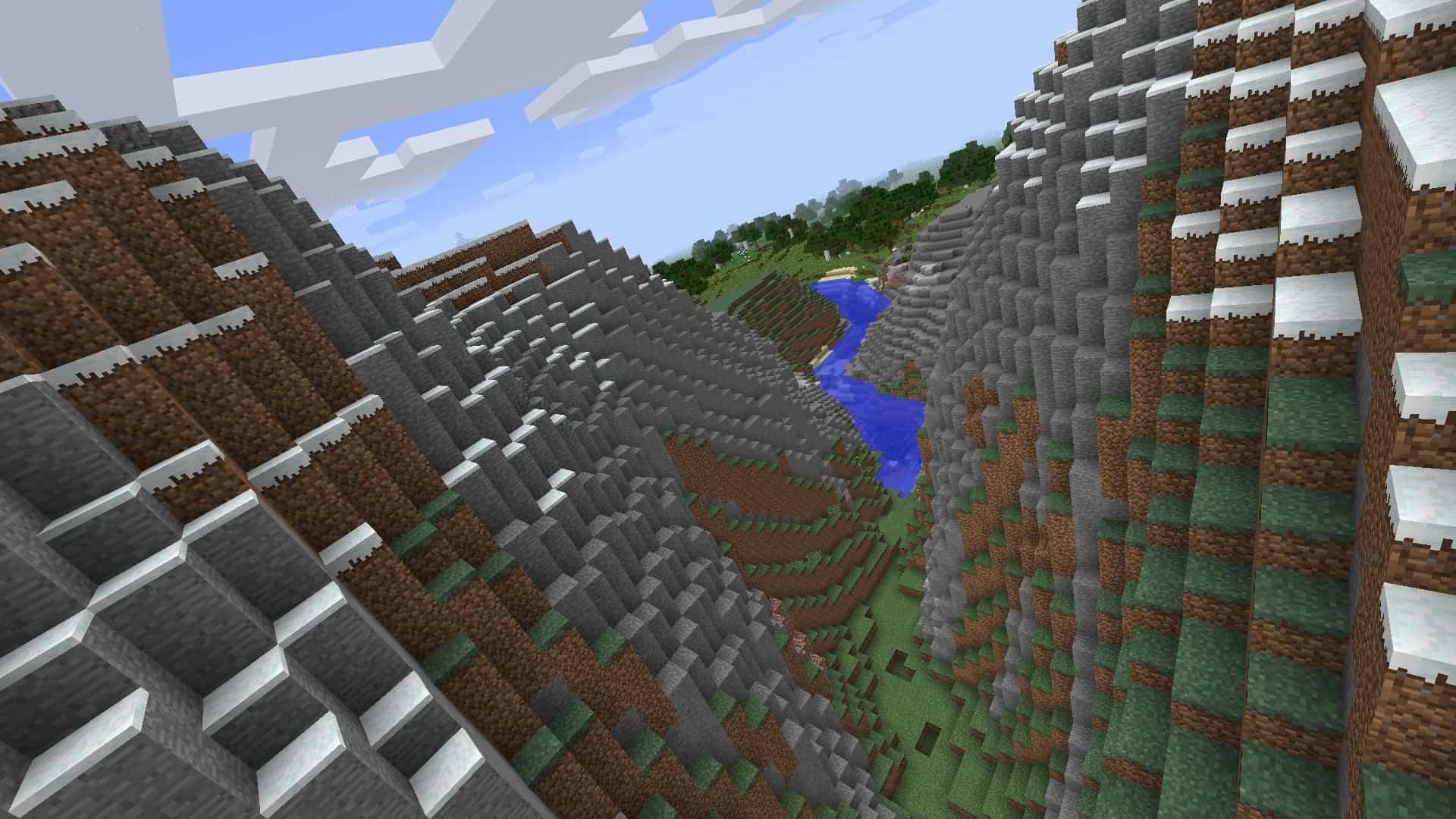 axe penché sur la droite avec le mod Minecraft BauerCam