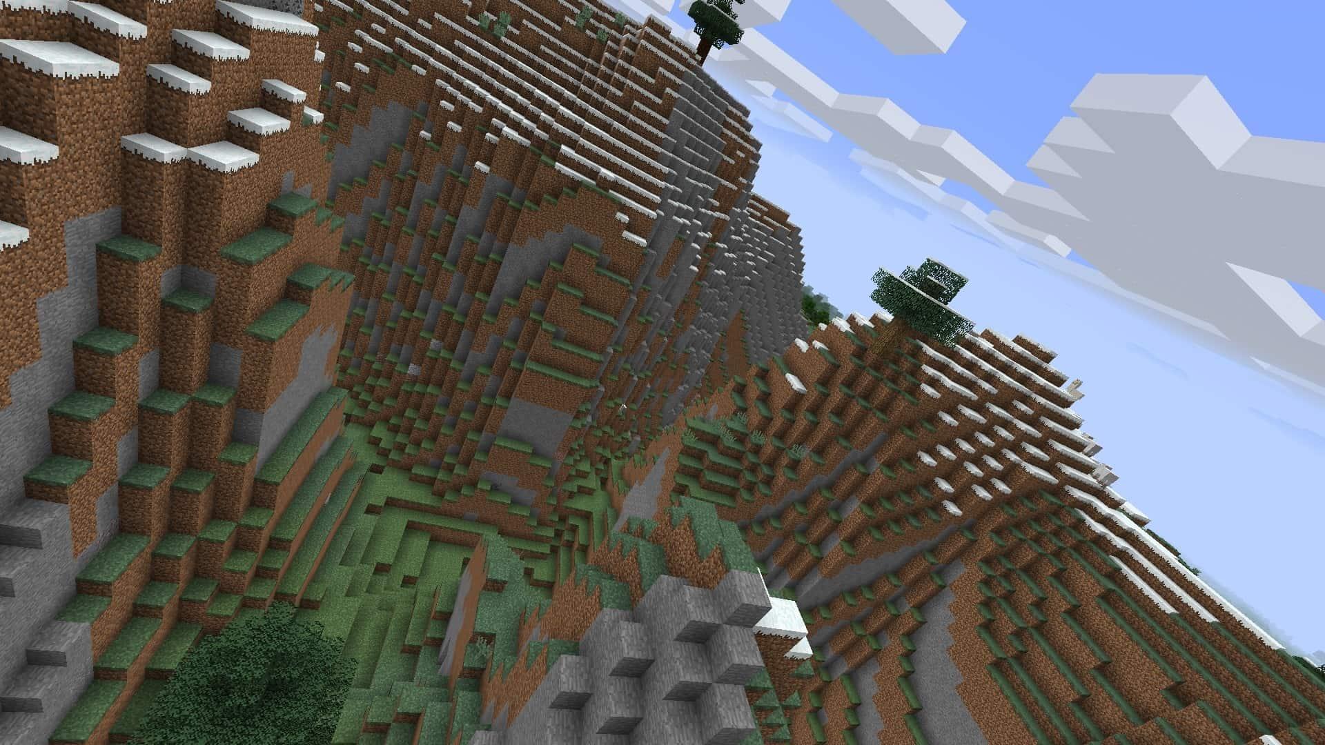 axe penché sur la gauche avec le mod Minecraft BauerCam