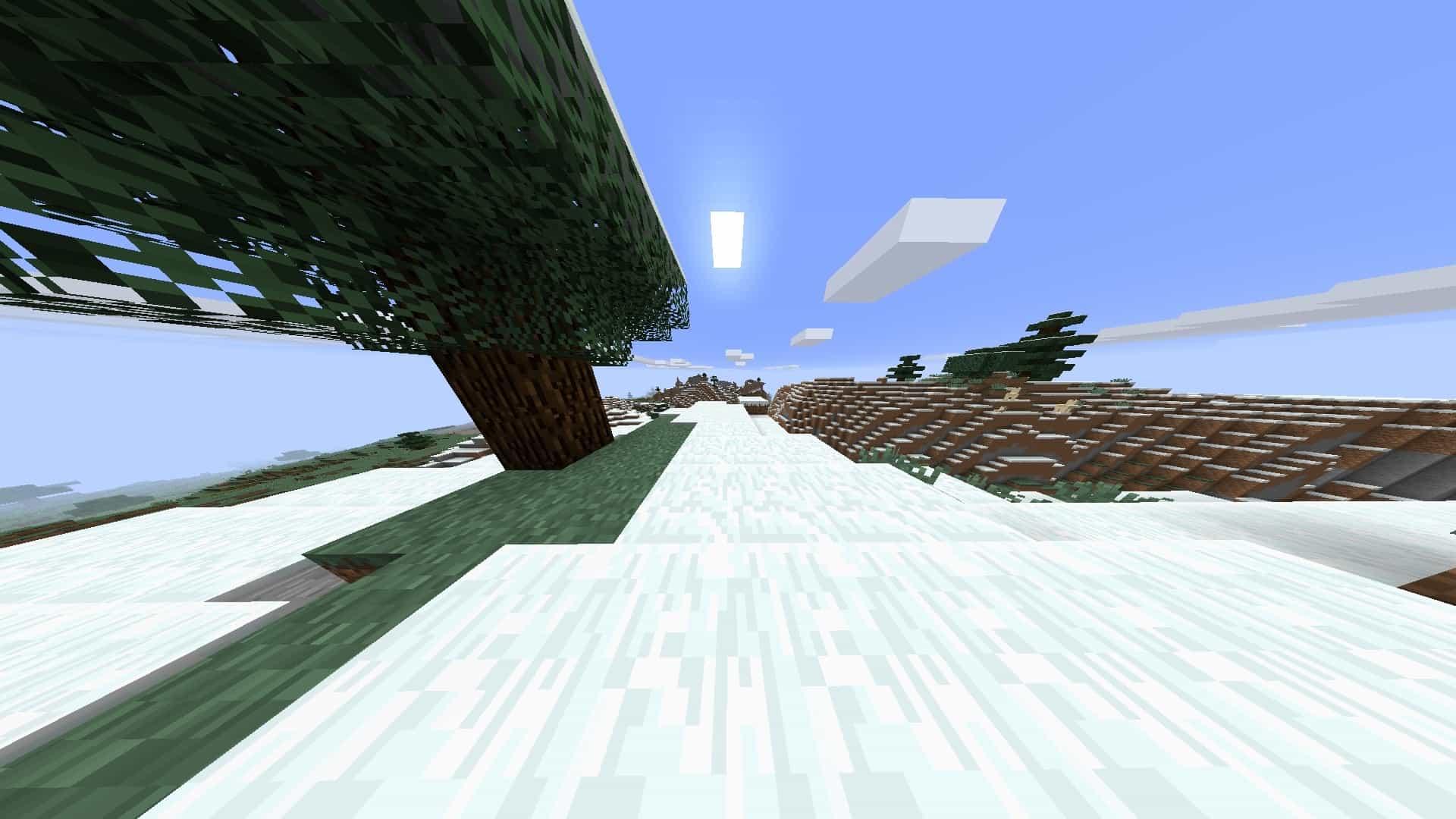 courte focale avec le mod Minecraft BauerCam