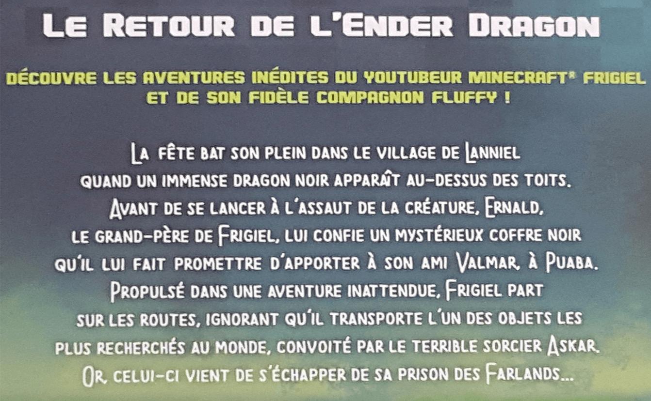 Le Roman Frigiel Et Fluffy Le Retour De L Enderdragon