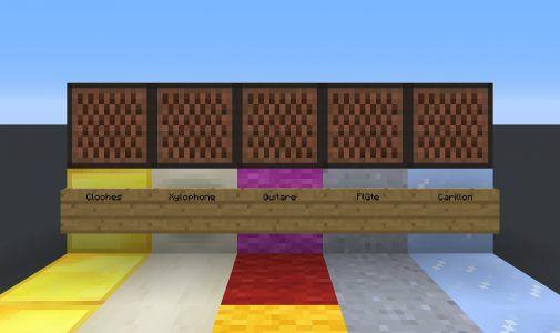 Nouveaux sons des blocs musicaux de la version 1.12 de Minecraft