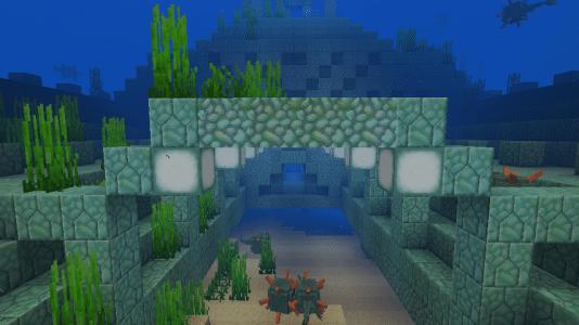 Temple sous l'eau