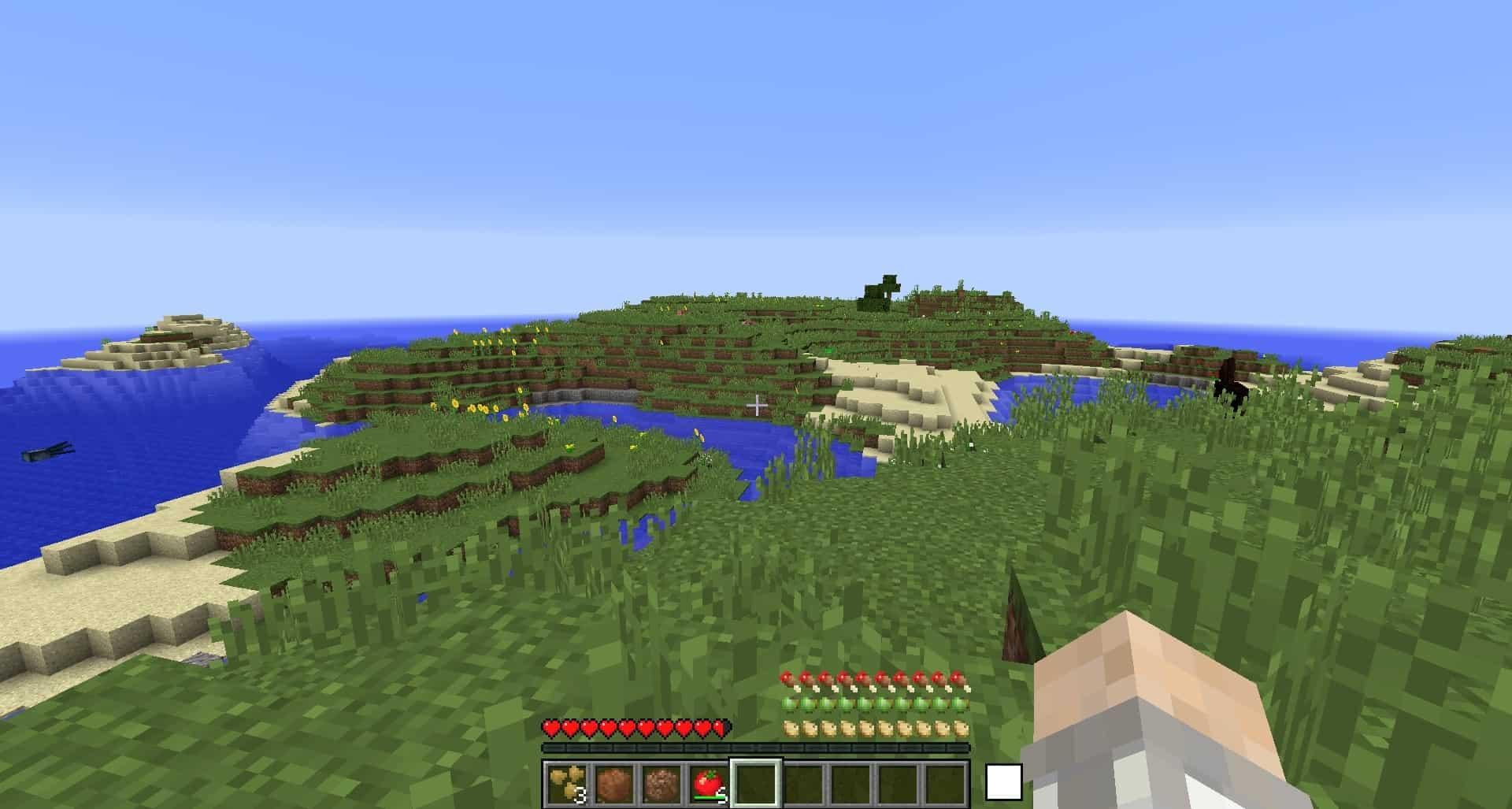 arrivée dans Minecraft avec le mod Geomastery