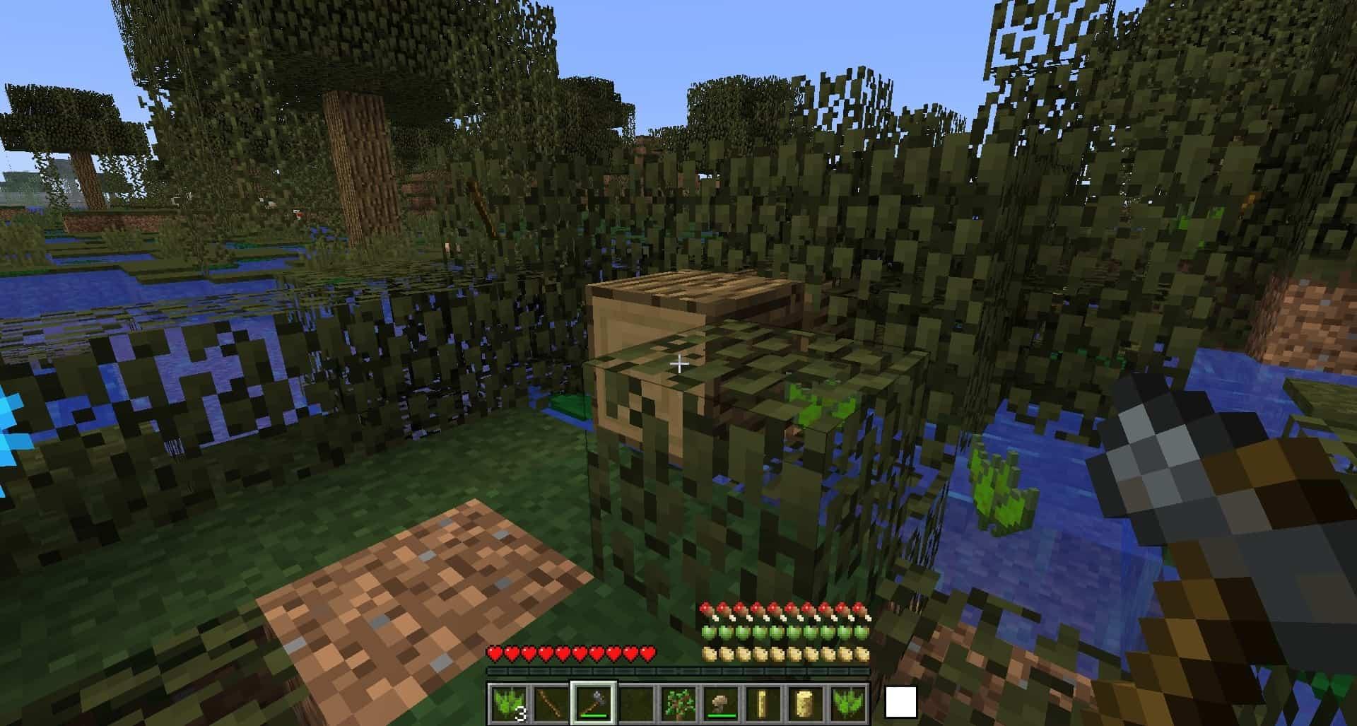 chute d'un arbre avec le mod Geomastery