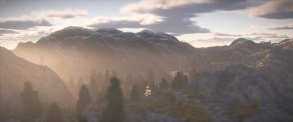 Montagnes avec le Continuum Shader