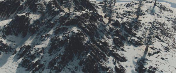 Montagnes enneigées avec le continuum shader