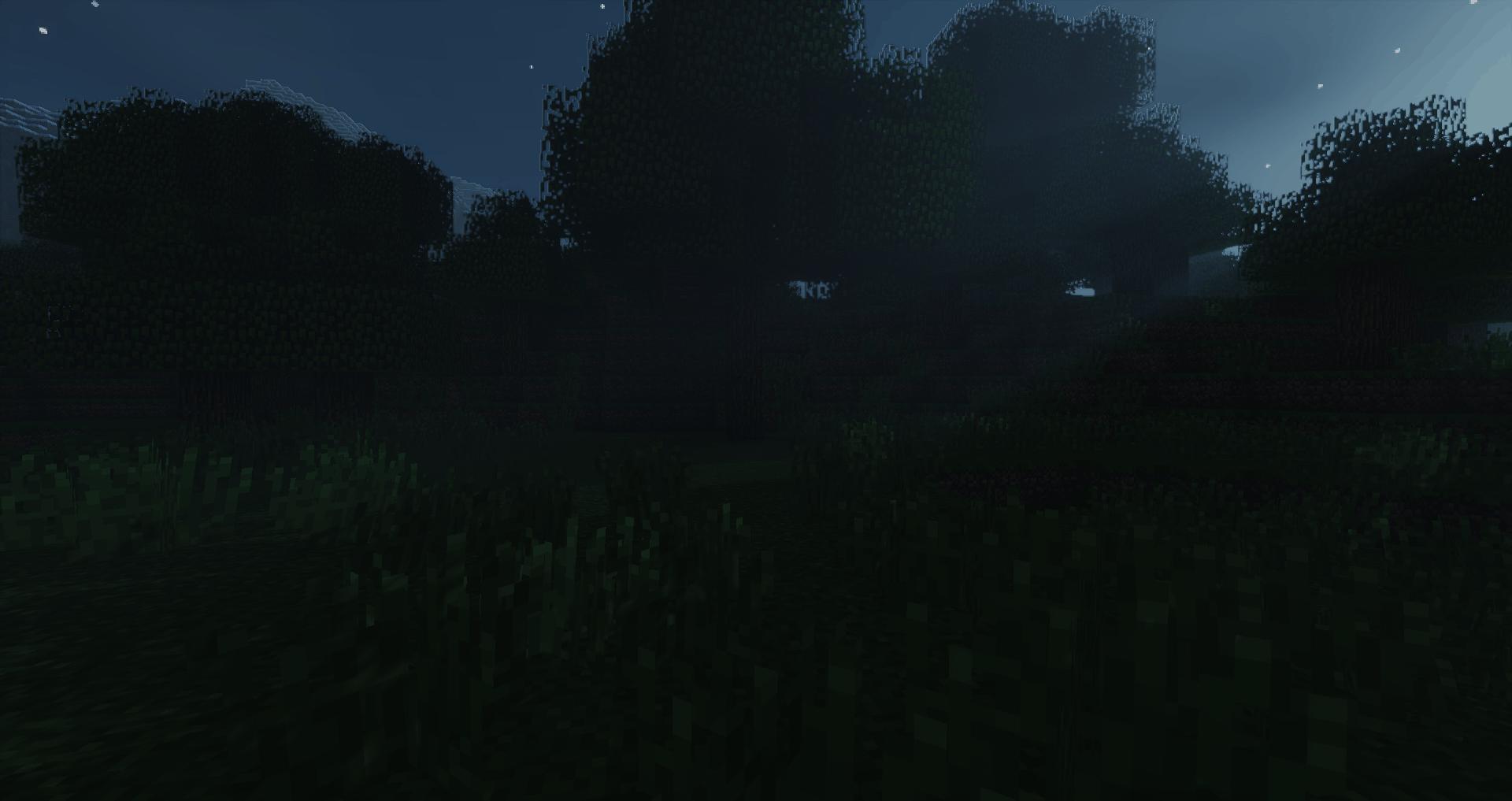 La nuit dans Minecraft avec le Sildur's Shaders