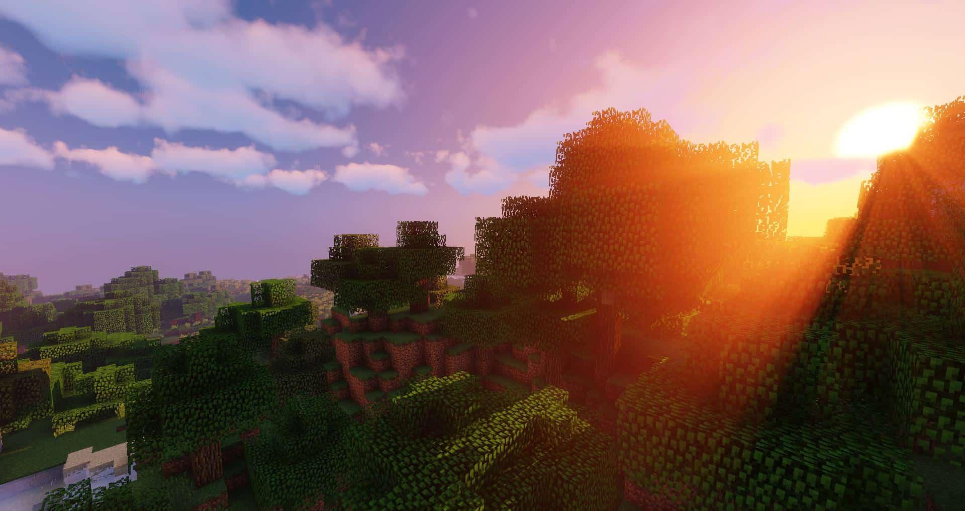 Rayons de soleil avec le Sildur's Shaders