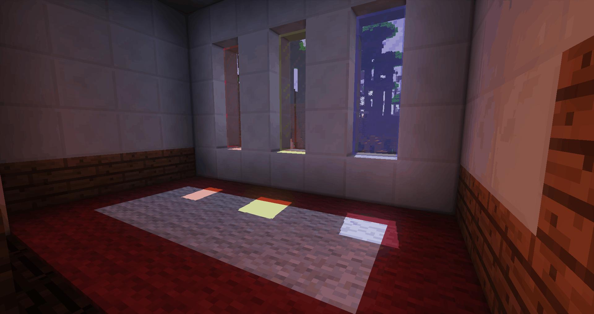 L'intérieur d'une maison avec le soleil qui passe par la fenêtre