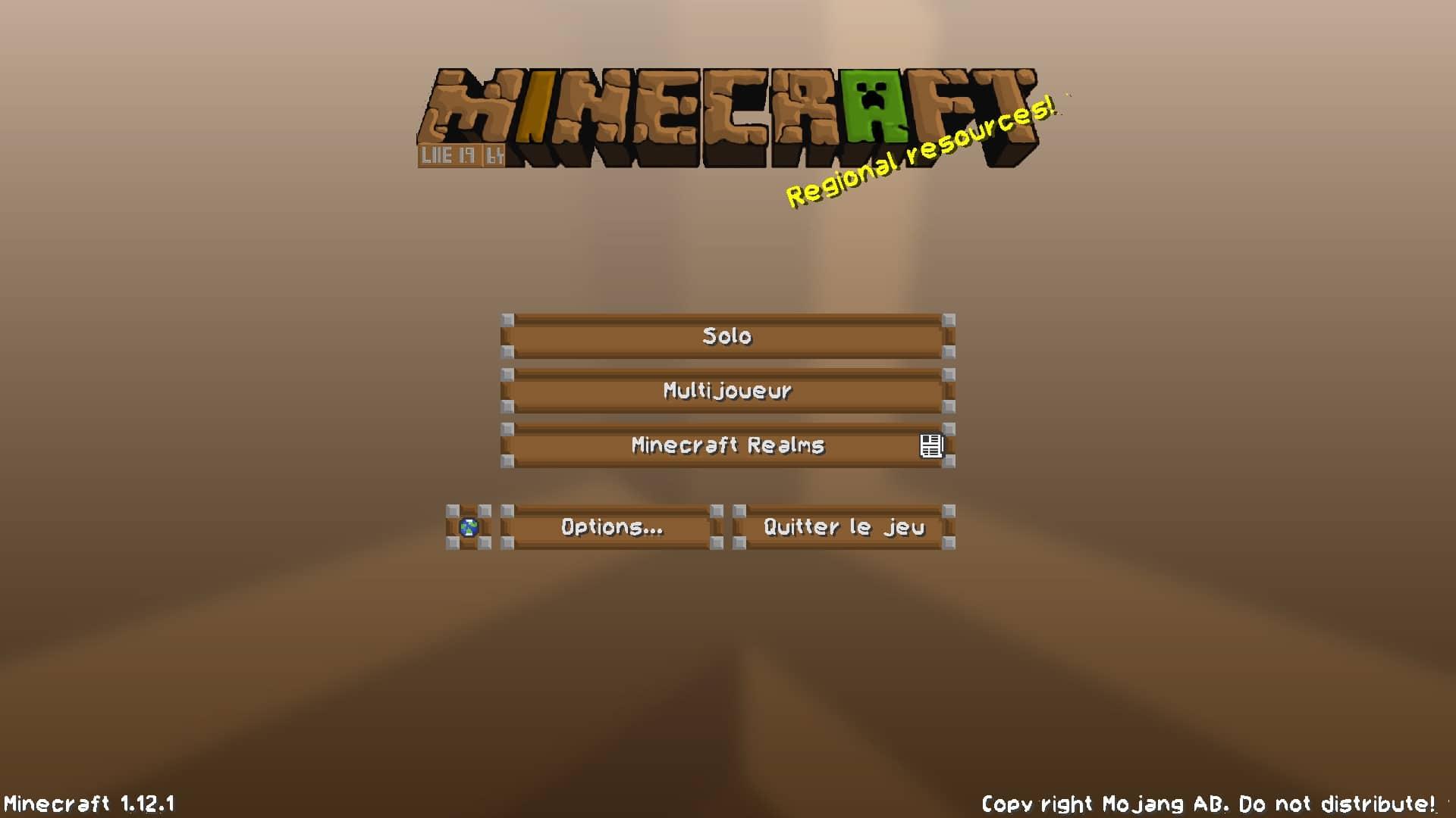 menu principal de Minecraft de LIIE's