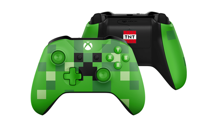 Manette Xbox One S Minecraft : creeper