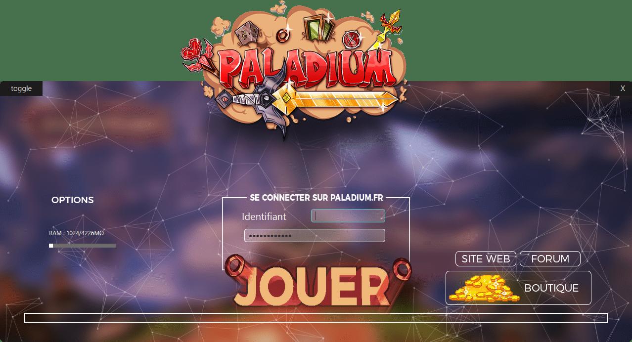 launcher de Paladium