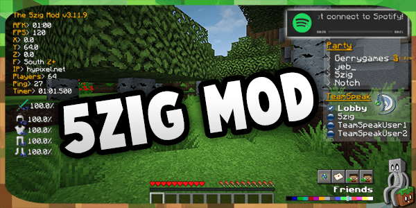 Photo of [Mod] 5zig Mod [1.7.10-1.12.1]