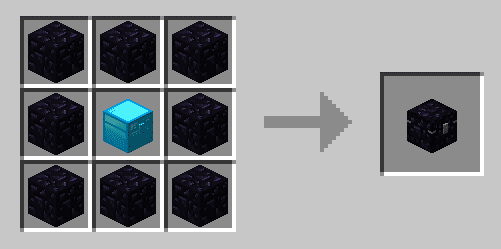 Iron Chests - Craft coffre en obsidienne