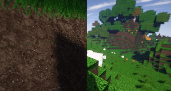 BeyondBelief Shader : Bloc de terre avec une texture HD