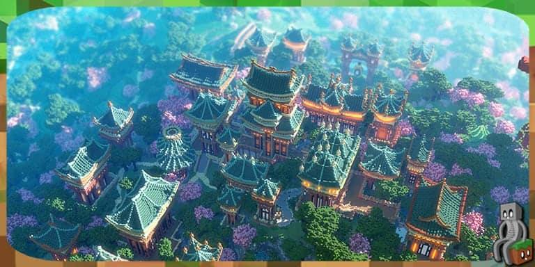 Map Xin Tiantang An Oriental Utopia 1 12 Minecraft France
