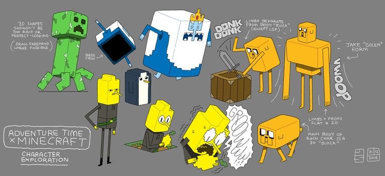 Un Episode D Adventure Time Special Minecraft Minecraft France