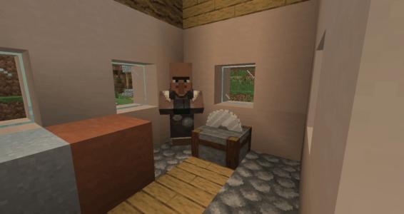 Un villageois dans Minecraft