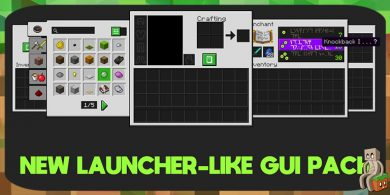 Photo of [Resource Pack] New Launcher-Like GUI pack [1.13]