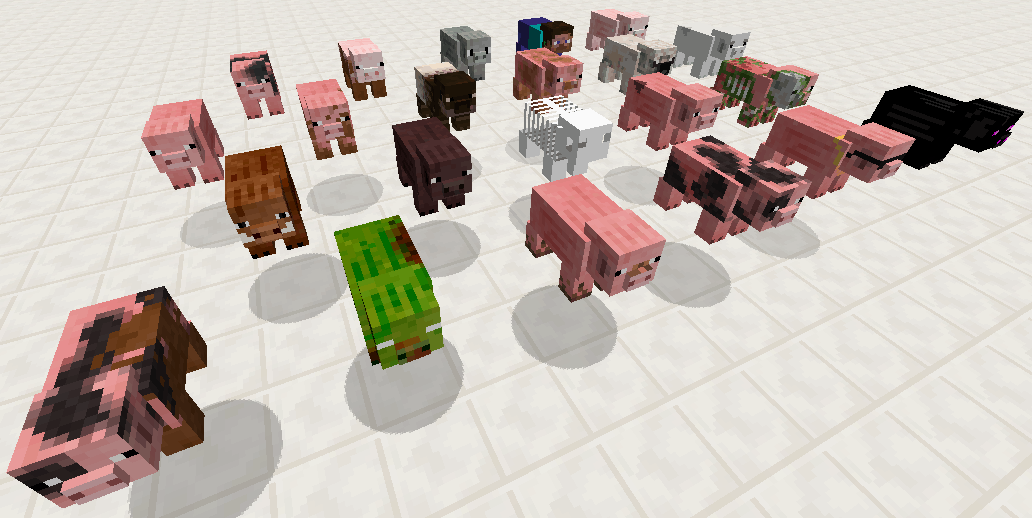 Resource Pack Mobs+ 1.13 - Minecraft-France