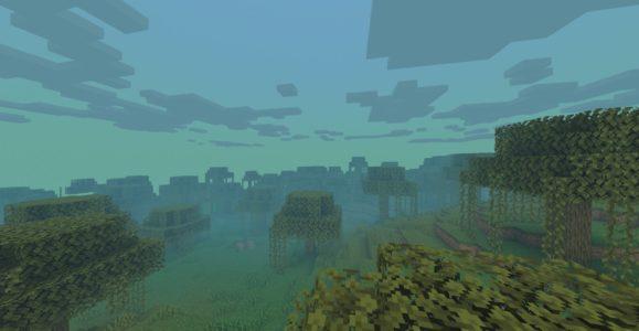 BeyondBelief Shader : Un marais avec l'effet de brouillard
