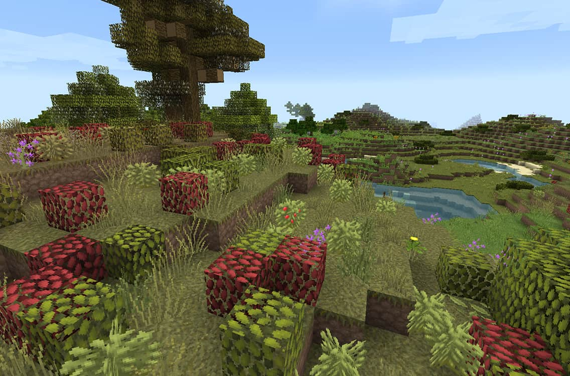 Resource pack Lithos : Des buissons