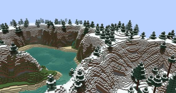 zone alpine avec des falaises