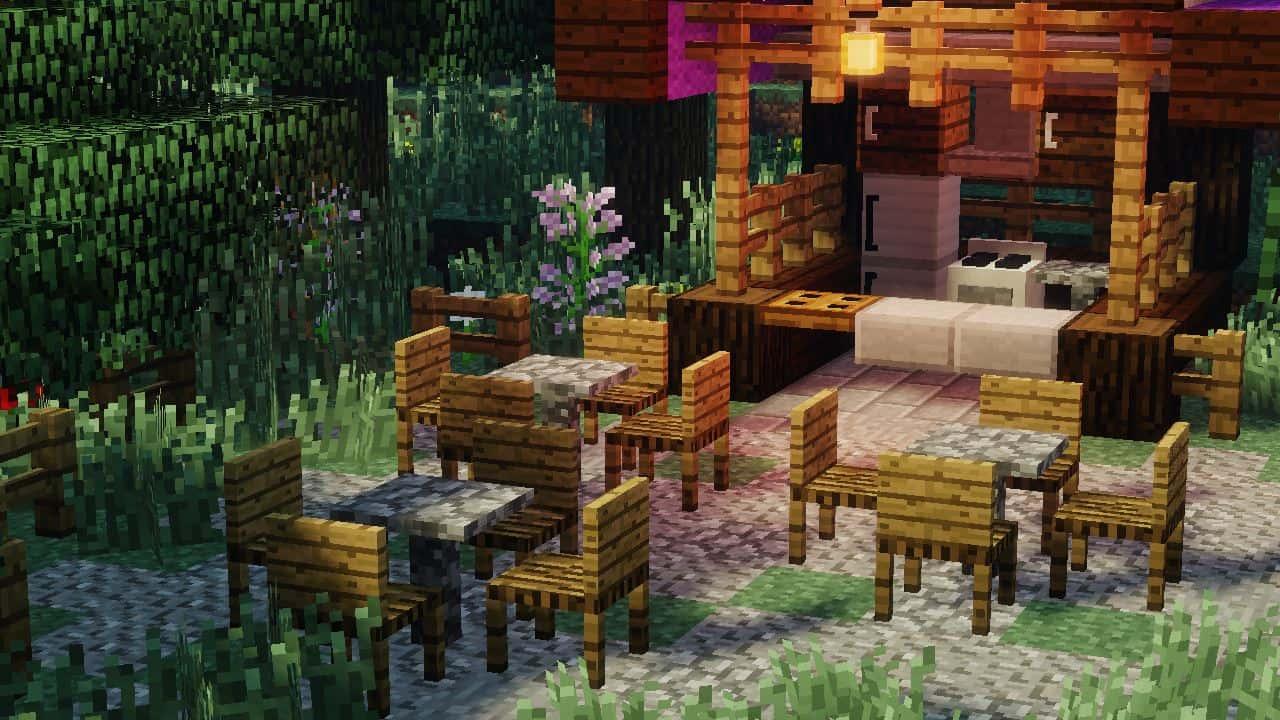MrCrayfish's Furniture Mod : Petite terrasse exterieure