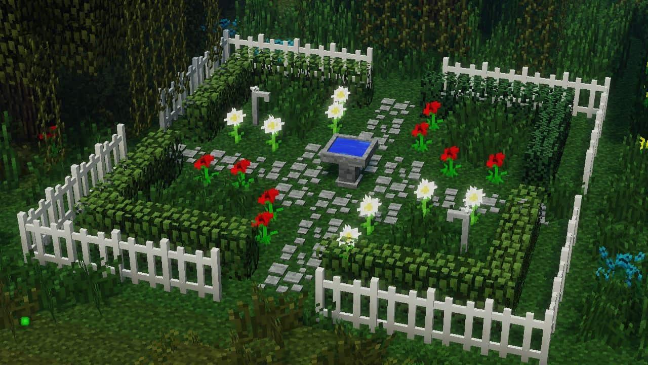 MrCrayfish's Furniture Mod : Un petit jardin