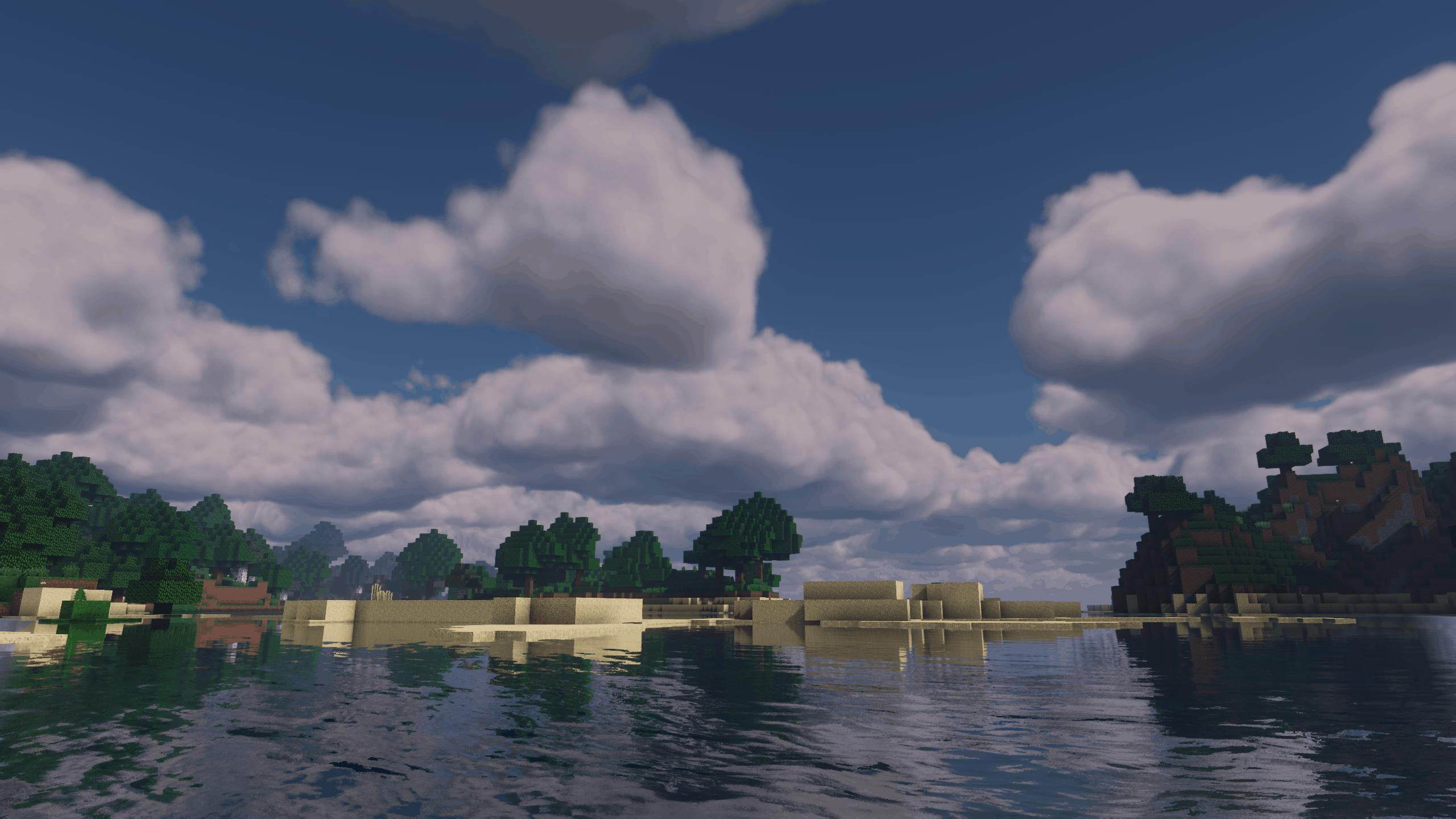 Des plages dans Minecraft