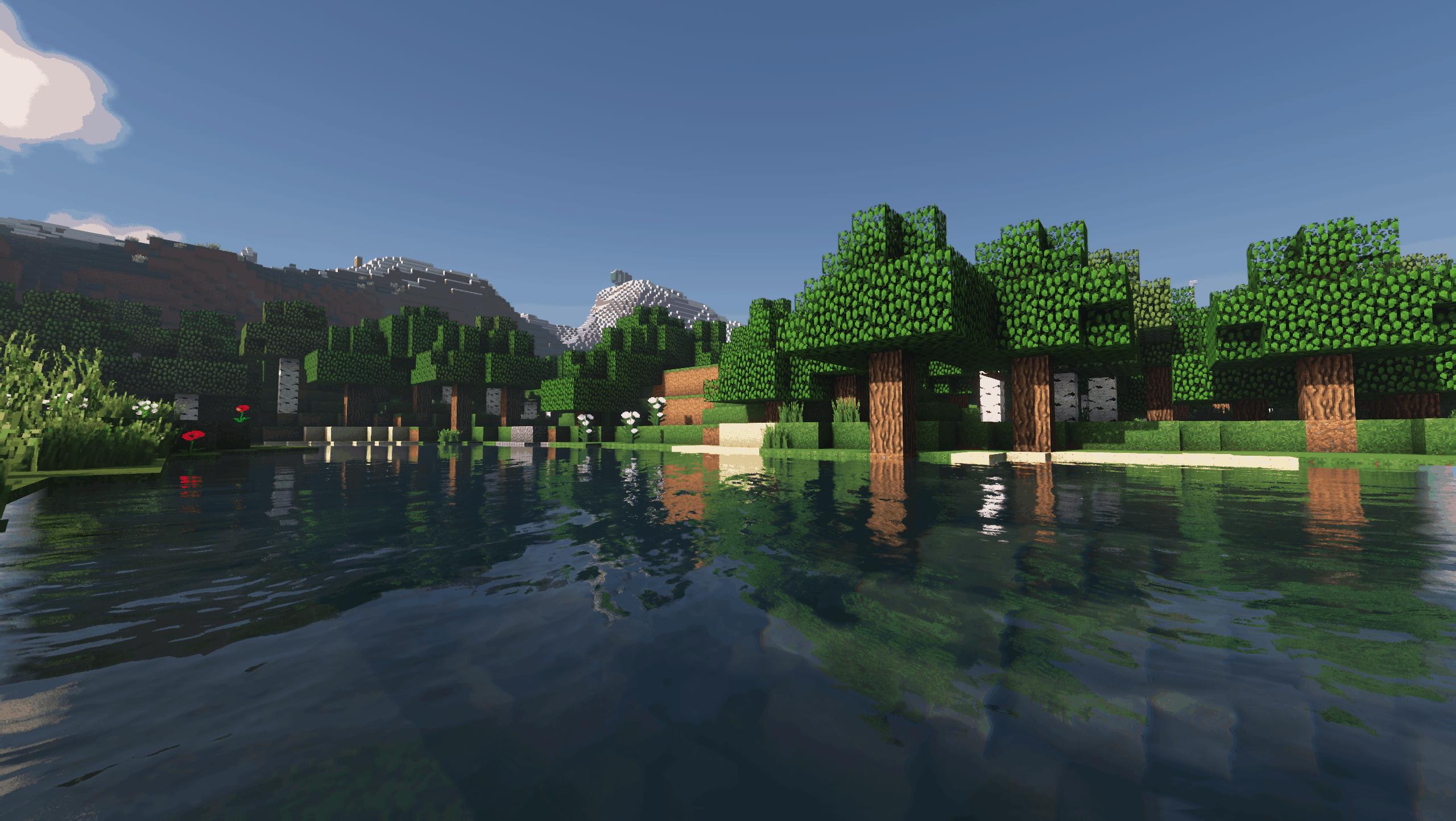 Aperçu d'un lac avec des montagnes en fond
