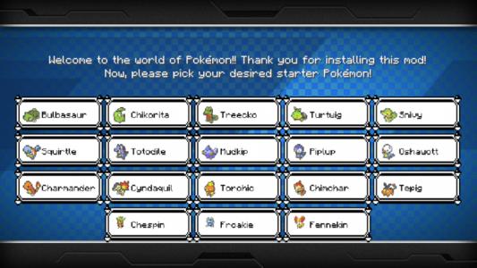 Pixelmon : Choix du starter pour commencer votre aventure sur Pixelmon